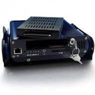 2CH Mobile DVR with GPS function,25fps (PAL)/30fps (NTSC) per camera at real-time display