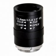 Manual Aperture Varifocal Zoom 3.5-8mm F1.4 1/3 inch CS Security CCTV Video Camera LENS