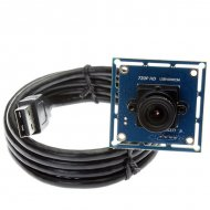 Fisheye Lens 720P USB Camera Board USB2.0 OmniVision OV9712 Color CMOS Sensor Support YUY and MJPEG