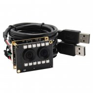 2MP WDR AR0230 Dual Lens Camera Module USB 2.0 for Face Recognition With IR LED Board